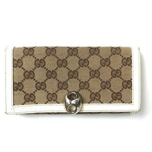 Gucci W hook canvas Wallet #47***